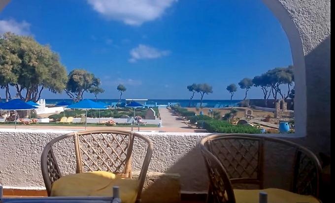 Бюджетный отель на Крите. Tsagarakis Beach 3* вид на море