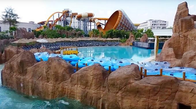 Новый аквапарк и отель в Турции Rixos World The Land Of Legends