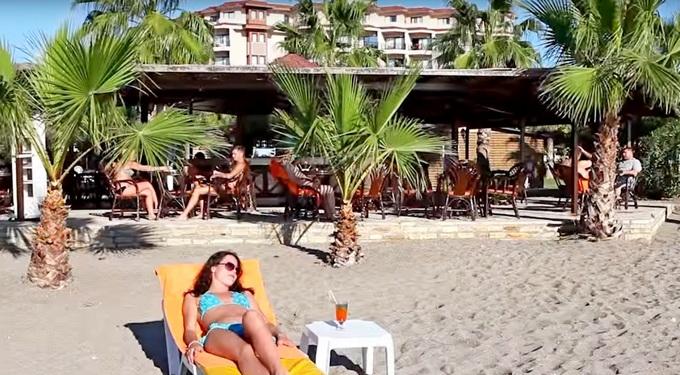 Justiniano club Alanya пляж