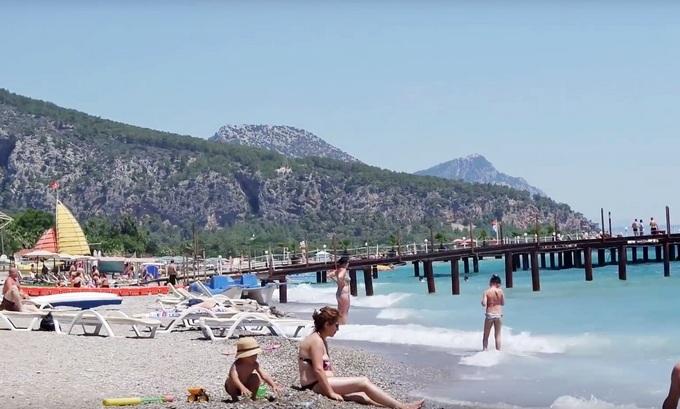 турция пляж кемер