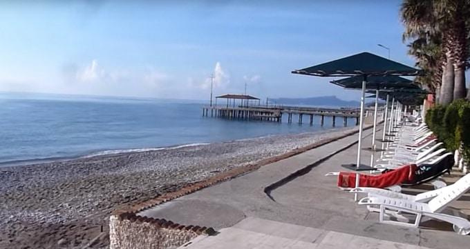 пляж отеля Sea Gull