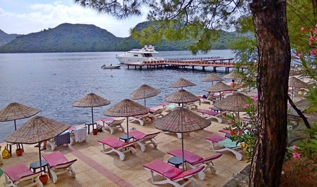 пляж отеля GRAND YAZICI MARMARIS PALACE
