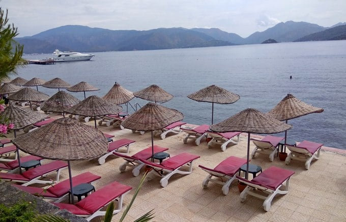 пляжи эгейского побережья турции